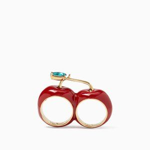 NWOT Kate Spade Ma Cherie Double Cherry Ring